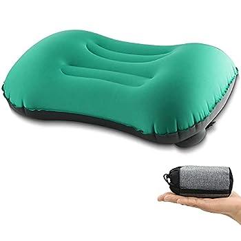 Oreiller Gonflable,Oreillers de Camping Gonflables Ultralégers,Oreillers de Presse à Main,Confortables pour Dormir en Voyage,randonnée ou randonnée,ergonomiques pour Soutien du Cou et des lombaires