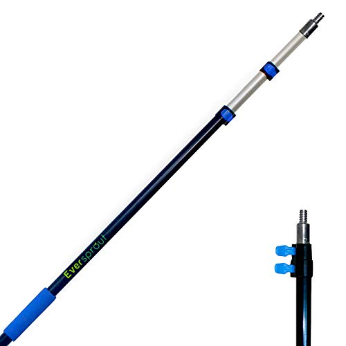 EVERSPROUT 5-to-12 Foot Telescopic Extension Pole (20 Foot Reach) | Lightweight Sturdy Aluminum | Easy Flip-Tab Lock Mechanism | Twist-On Metal Tip works for Squeegee, Duster, Paint Roller (pole only)