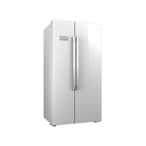 Beko ASL141 Stand-Alone Refrigerator, American Side-by-Side Doors, LED, Glass, 558 Litres, White
