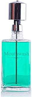 The Perfect Measure Mouthwash Dispenser Lead-Free Crystal with Chrome Pump