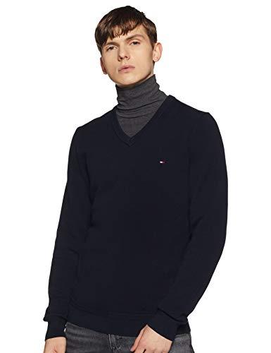 Tommy Hilfiger Men's Cotton Sweater (A9AMS178XL_Sky Captain_XL)