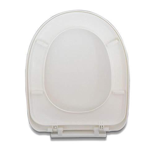 ZLEW 1 Universeller Soft-Close-Toilettenbezug PP-Platine U-förmiger Soft-Close-Toilettensitz Austauschbarer Toilettensitz Bad Verdickter Toilettensitz, U-Typ