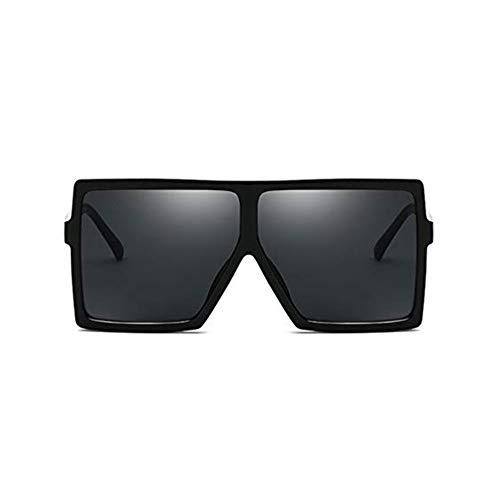 MYSNKU Moda Quadrato Grande Telaio Occhiali Da Sole Uomini e Donne Eyewear UV400 Nero Guida