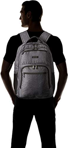 Kenneth Cole Reaction Travelier Multi-Pocket Laptop & Tablet Business, School, Travel Backpack Bag, Charcoal, One Size