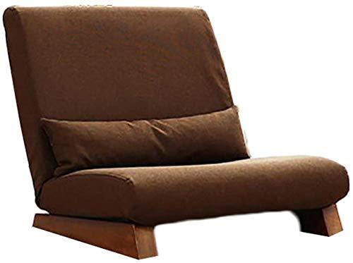 Luie stoel, luie bank Enkele bank Vrije tijd Massief houten slaapkamer Vloer Bank kan worden opgevouwen U kunt demonteren en bruin reinigen