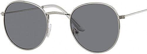 Lindo Sexy Retro Oval Gafas De Sol Mujeres Pequeño Oro Negro Vintage Retro Gafas De Sol Mujer Plata Gafas Oculos, gris (silver gray),