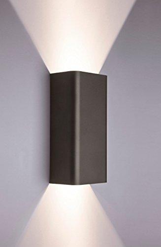 Moderne Wandlampe Up Down in Graphit GU10 Metall Lampe Strahler Flut Hotel Schlafzimmer Wand Leuchte