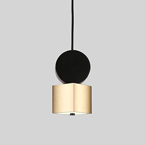 CHENJUNAMZ Techo de la lámpara del Oro 3 Colores Blanco cálido Amarillo Natural de luz de la lámpara de Comedor Sala de Estudio Dormitorio (Color : A)