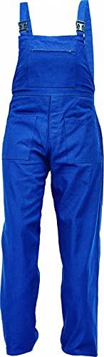DINOZAVR UDO Pantalones con Peto de Trabajo para Hombre - Algodón Transpirable - Azul EU44