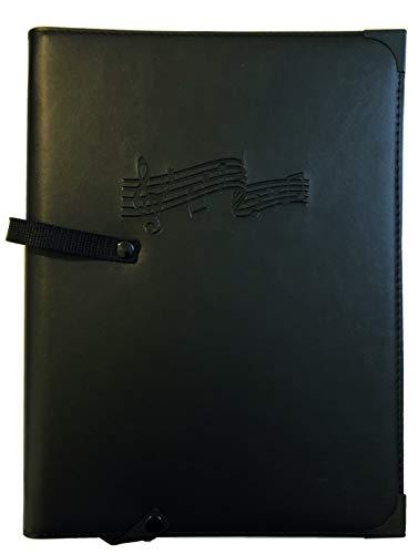 Chor-Notenmappe RH KANTATE, passend für DIN A4, Kunstleder, schwarz, Handschlaufe, Sperrband, Ringmechanik, 3 Transparentfächer, Gummikordeln, Metallschutzecken Notenmappen 27,90 €
