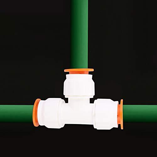 Redxiao 【𝐅𝐫𝐮𝐡𝐥𝐢𝐧𝐠 𝐕𝐞𝐫𝐤𝐚𝐮𝐟 𝐆𝐞𝐬𝐜𝐡𝐞𝐧𝐤】 T-Stück-Anschluss, stoßfeste Wasserrohrverschraubung, für Aquarienbewässerungsschwimmbäder