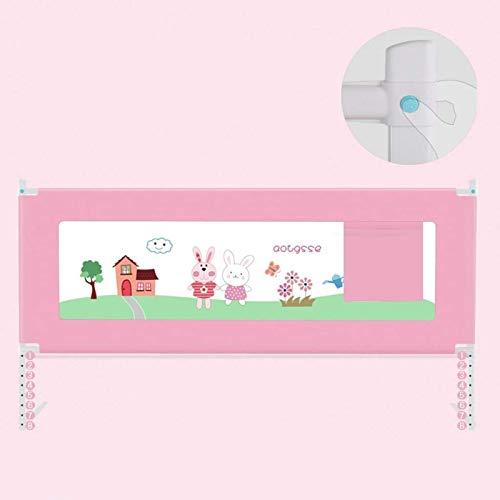 Rieles de cama portátiles Pink Rabbit parachoques de cama para niños pequeños, riel de cama anticolisión, riel de cama, riel de cama para niños pequeños, protector de riel de cama para niños pequeños,