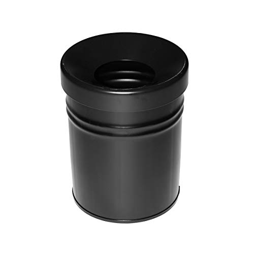 Poubelle TKG Autoextinguible Fire EX, 24 L, blanc, rouge, bleu, neusil, noir, version : 7 29,5 x 37 cm – Noir