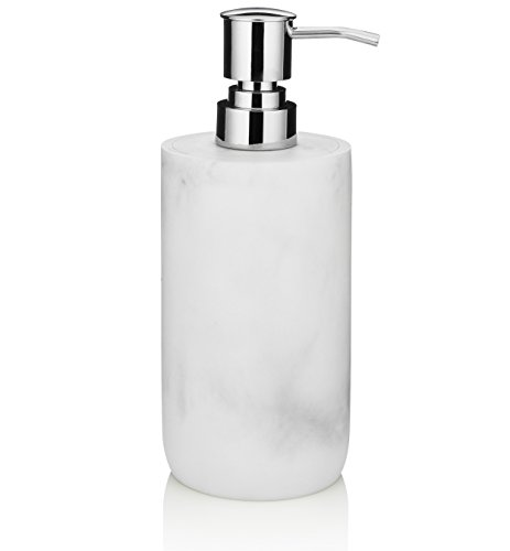Essentra Home Blanc Collection White Liquid Soap Dispenser with Metal Pump for -