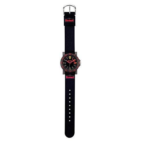 Scout Jungen Analog Quarz Uhr mit Textil Armband 280375007