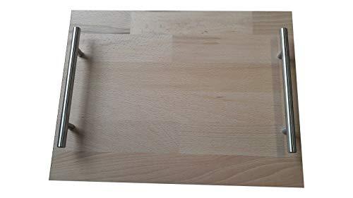 Gleitbrett Rollbrett geeignet Thermomix TM 21 TM 31 TM 5, oder Mixi, Mixomat, Kohler-Küchenmaschine und andere Küchenmaschinen Modell La Gorra aus Buche Natur