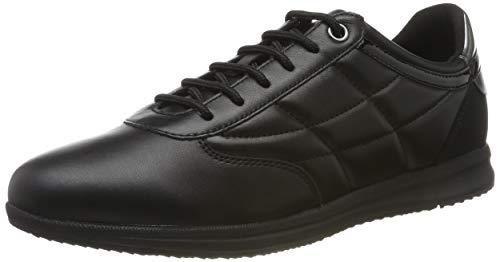 Geox Damen D Avery C Sneaker, Schwarz (Black C9999), 38 EU
