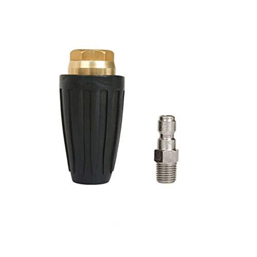 DIYARTS Boquilla Giratoria 1/4 Pulgadas Tapón de Conexión Rápida 7.5KW Hidrolimpiadora de Alta Velocidad Boquilla Giratoria Accesorio para Limpieza (3.5)