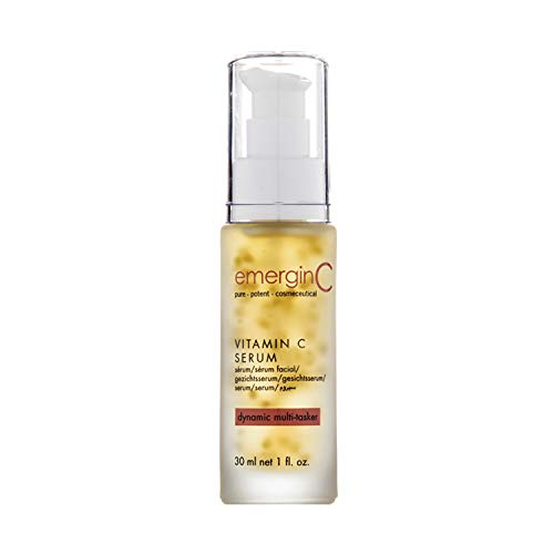 emerginC 12% Vitamin C Facial Serum - Extra Strength Micro-Encapsulated Spheres + Brightening Complex to Help Address Visible Signs of Aging (1 Ounce, 30 Milliliters)