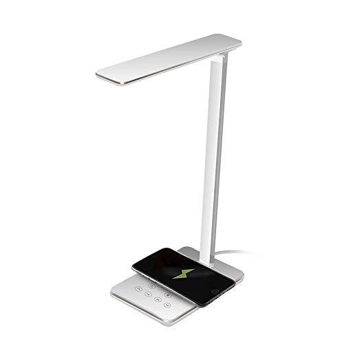 QXinjinxtd Lámparas para habitaciones Escritorio LED Lámpara Teléfono, Móvil Recargable Lámpara De Escritorio, Eye-El Cuidado Lámparas De Mesa, Lámpara Regulable Oficina Con Puerto De Carga USB For La