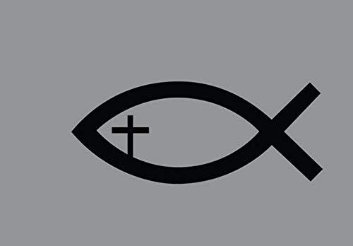 TeriliziJesus Fisch Mit Kreuz Christian Religiöse Kirche Gott Symbol Vinyl Aufkleber Aufkleber-57X23Cm
