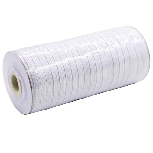 Elastic Bands for Sewing, White 100 Yard 1/4' Width Elastic Cord for Sewing and Crafting Elastic for Sewing Crafts DIY, Bedspread, Cuff