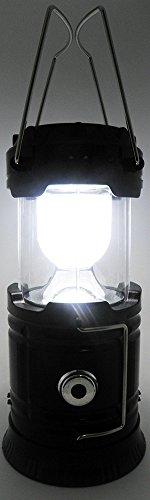 Lampiao Solar De Led Luminaria Lanterna Com USB Bateria Recarregavel Retratil Alto Brilho Portatil Cor Preto (bsl-2030-7)