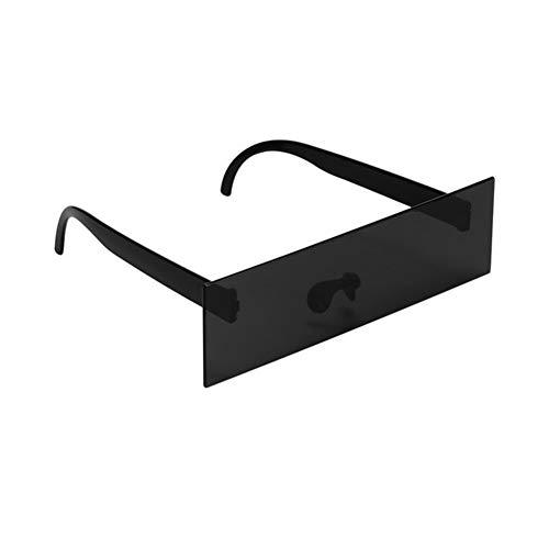 Gafas de Sol Lentes Controlador Photobooth Puntales Censor Bar Gafas de Sol Gafas de Sol Negro Ojo Cubierto de la Fiesta de deshierbe Stand Atrezzo decoración Gafas de Sol (Color : Black)