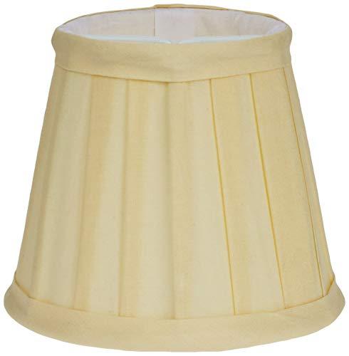 Better & Best Pantalla de lámpara de algodón, con pinza de sujeción para bombillas tipo vela, tabla estrecha, de 12 cm, color crudo