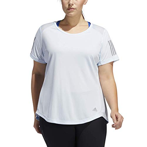 adidas Own the Run - Camiseta de running para mujer - FRQ07, playera de correr, 3X, Tinte cielo