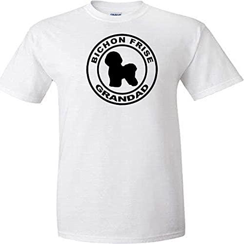 Bichon Frise - Camiseta unisex con diseño de círculo para abuelos, diseño...