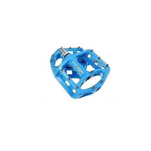 Fußrasten Magnesiumlegierung Rennrad Pedale Ultraleicht MTB Lager Fahrrad Pedal Fahrradteile Zubehör (Color : Blue)