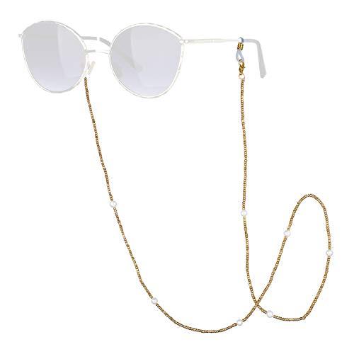 C·QUAN CHI Cadenas para anteojos Collar con Cuentas Cadenas para mascarillas Cordones para mascarillas Gafas Cordón Multifuncional para Mujeres Niños Regalos