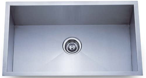 """Dowell 30"""" Undermount Single Bowl 18 Gauge Kitchen SS Sinks Handcrafted Series (6D002 3018C)"""