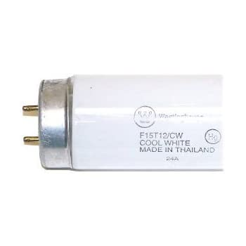 Cool White Sunlite F15T12//CW 15 Watt T12 Tube Medium Bi-Pin Base