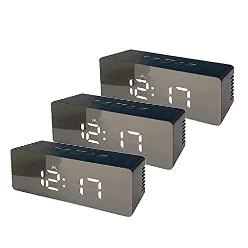 QUERT Juego de Reloj Despertador electrónico Digital 3 ed