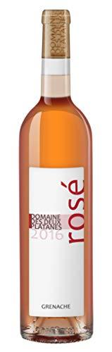 Domaine des Deux Platanes Wein - Rosé 2016 - Weinflasche 1 x 0,75 l - Weinqualität aus Frankreich - Roséwein - Gekeltert aus 100% Grenache - Bio