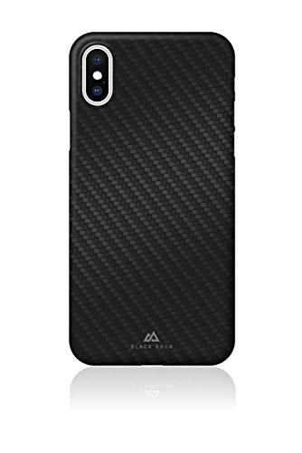 Black Rock - Ultra Thin Iced Hülle Hülle für Apple iPhone X/XS | Karbon, dünn, schlank, rutschfest (Flex Carbon Schwarz)