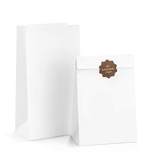 BagDream Paper Lunch Bags 6lb 100Pcs Kraft Paper Bags Bulk, Craft Bags, Bread Bags, White Paper Snack Bags, 6x3.54x11 Inches Kraft Sack Lunch Bags