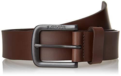 Levi's Seine Metal Cinturn, Marrón Oscuro, 90 cm para Hombre