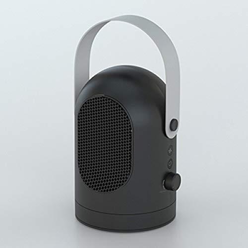 JMSHHT Heizlüfter TragbareDesktop/Tisch heizung elektrische Fan warmluftgebläse mit 3 Gang heizung kühler warm Einsatz für zuhause/büro, schwarz