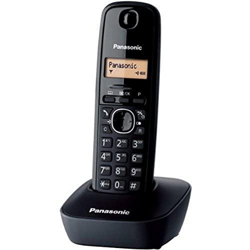 Panasonic KX-TG1611FRH Téléphone solo sans fil DECT sans répondeur Noir [Version Française]
