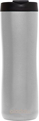 Aladdin Edelstahl-Thermobecher, 0.47 Liter, Gebürsteter Edelstahl, Doppelwandig Vakuumisoliert, Auslaufsicher, Spülmaschinenfest, Kaffeebecher Isolierbecher Thermo-Becher