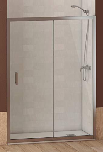 ALABAMA Mampara Frontal de ducha, Easy Clean, Medidas 130 x 195 cm,...