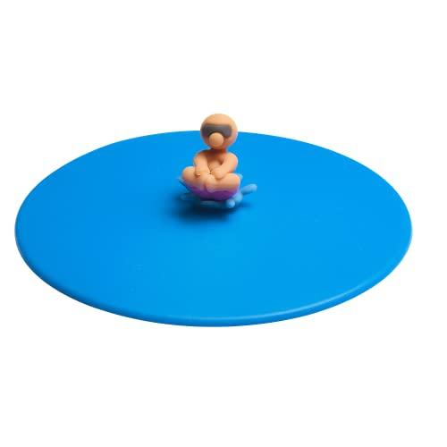 Lurch 210888 Splash Bruno Bombe, coperchio in vetro 100% silicone senza BPA, Ø 10,5 cm, blu