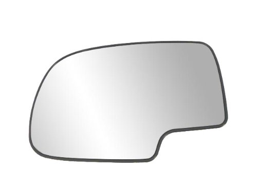 Driver Side Non-heated Mirror Glass w/ backing plate, Cadillac Escalade, Avalanche, Silverado, GMC Sierra, Silverado, Sierra Classic, Suburban, Tahoe, Yukon, 6 9/ 16'x10 1/ 8' x 10 3/ 4' (w/ o signal)