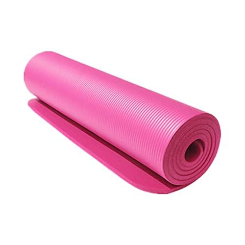 WLBH Alfombra de Yoga, Estera de Ejercicios amigable con Eco TPE Antiadherente, Estera de Fitness de 183 cm para Yoga, Pilates, Gimnasia, Entrenamientos domésticos con un Pink-183 * 61 * 10
