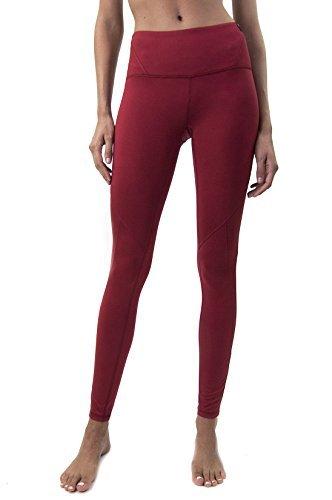 Satva Womens Mid Rise Full Length Tashi Yoga Pants 4 Way Stretch Leggings Tights