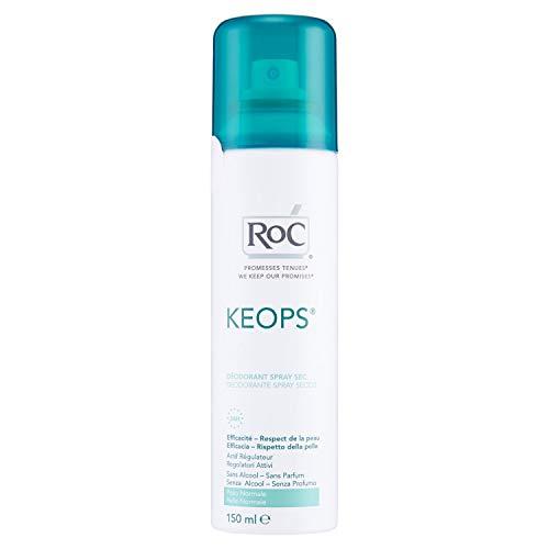 ROC KEOPS - Desodorante Spray Seco - Sin Perfume, Sin Alcohol - 150 ml