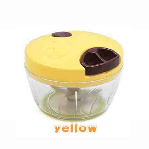 hwaay yellow manual food processor, food grinder for chopped fruits, vegetables, nuts